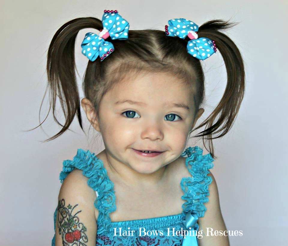 Turquoise Pig Tail Bow