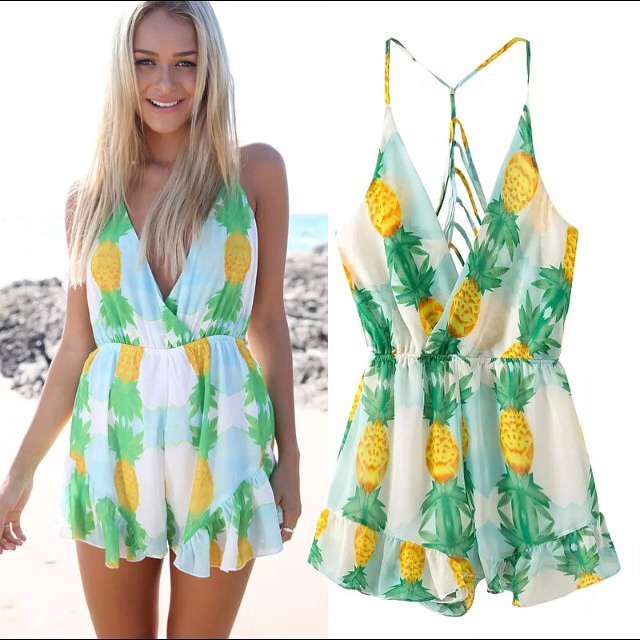 b8229fcbb Pineapple Romper · Jaded Bliss Boutique · Online Store Powered by ...