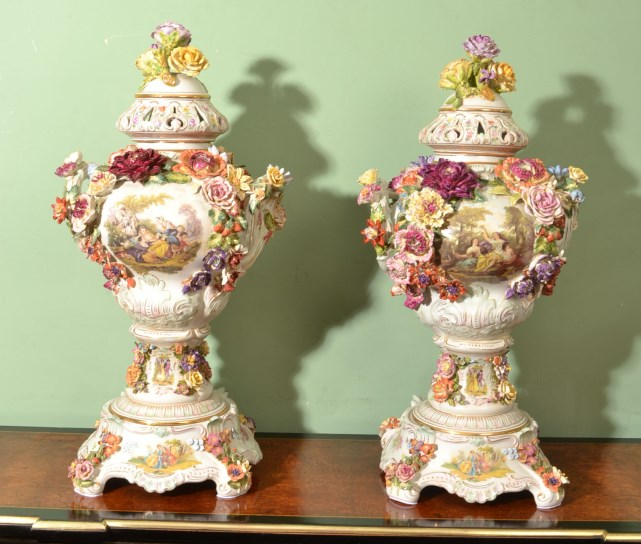 Pair Hand Painted Porcelain Vases On Storenvy