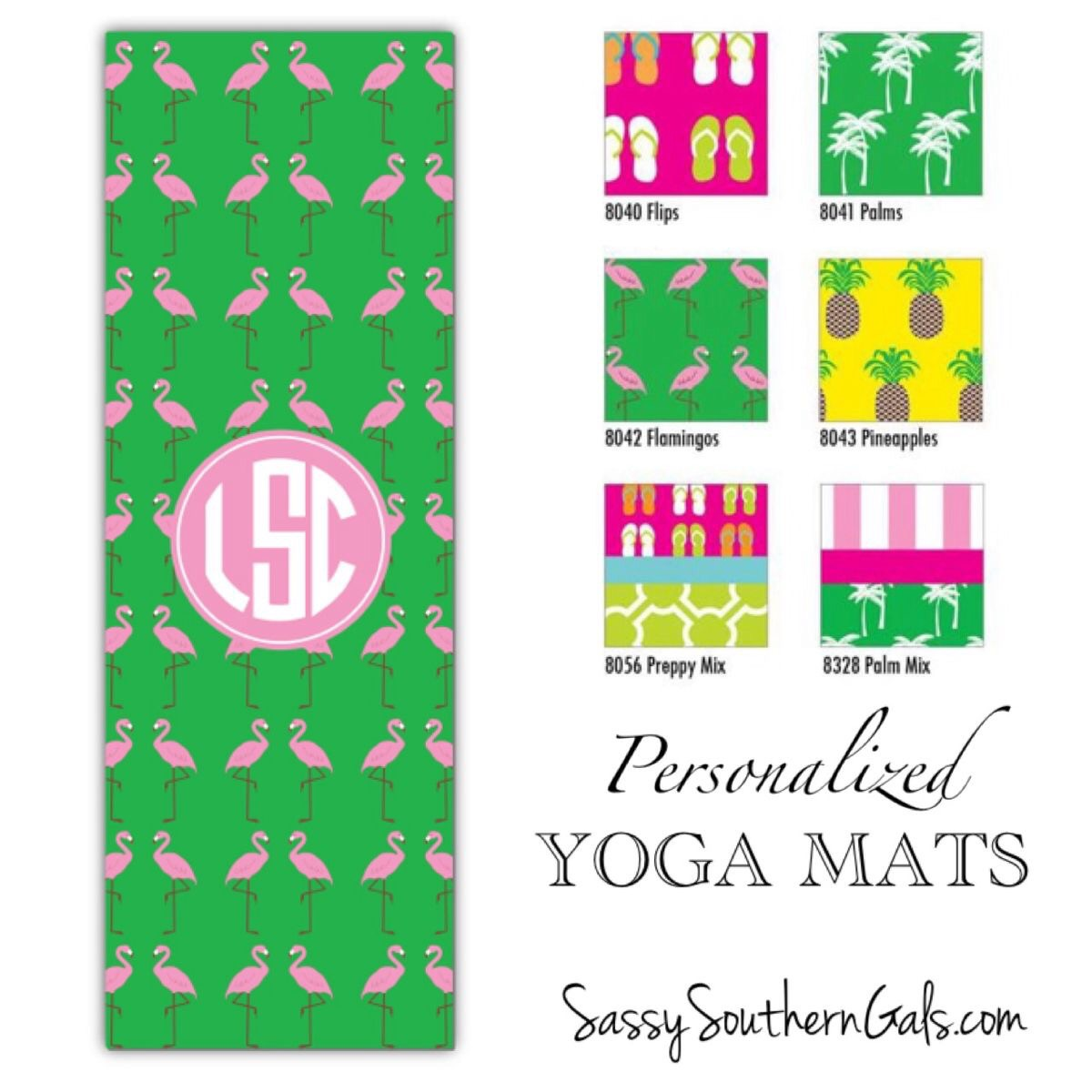 pink yoga mat shocking monogrammed light green monogram mats gifts