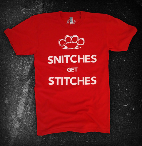 the snitches tee on storenvy