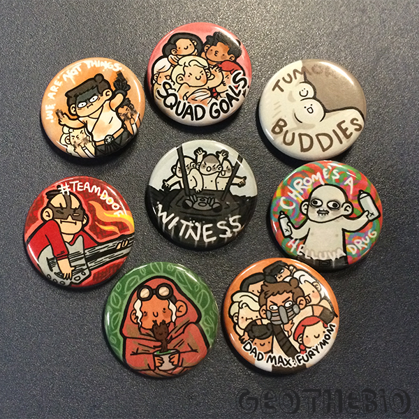 f0977fec2ef5a Mad Max Pin Set (8) · geothebio · Online Store Powered by Storenvy