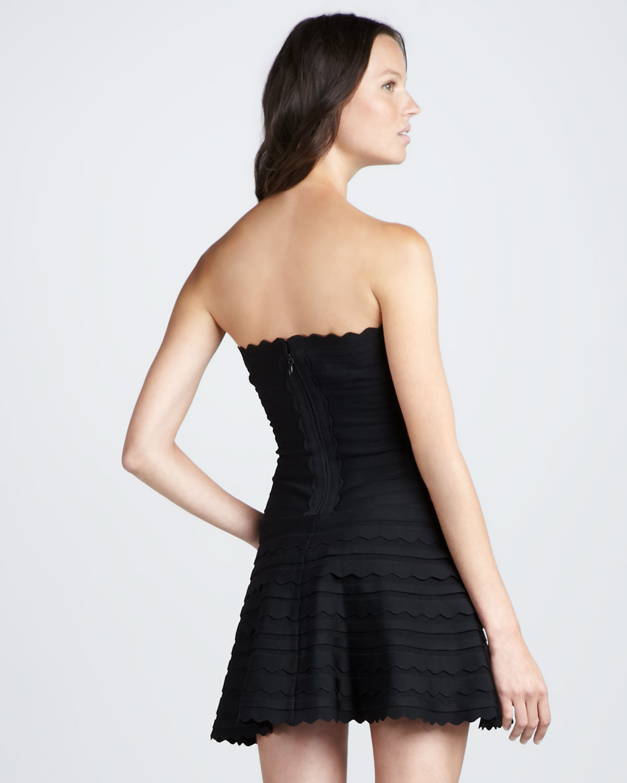 e9002f415648 Scalloped Strapless Bandage Dress H453 · Celebdressy · Online Store ...