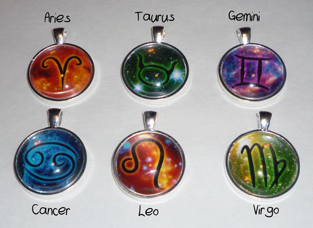 Nebula Zodiac Pendant Necklace · The Starfield · Online ...