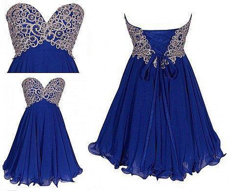 Short Bridesmaid Dress Blue Bridesmaid Dress Junior Bridesmaid