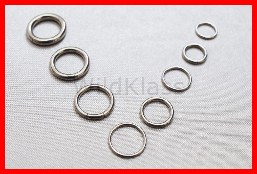Septum Ring 16g 14g 12g 10g 8g Steel Segment Seamless Nose