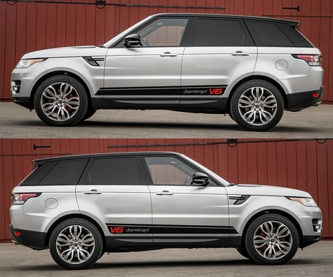 Spk264 Range Rover Sport Land Rover Racing Stripes Sticker