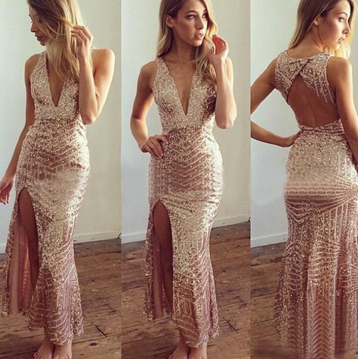Womens deep v neck sexy desigual font b dresses b font font b gold b font 33b1eee64760