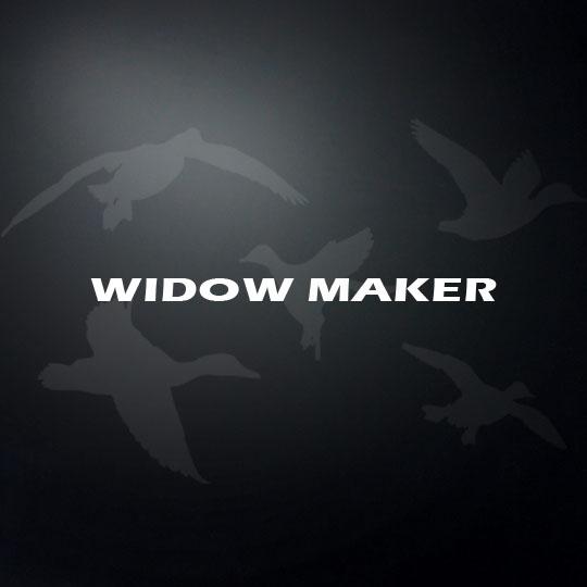 Widow maker shotgun barrel decal