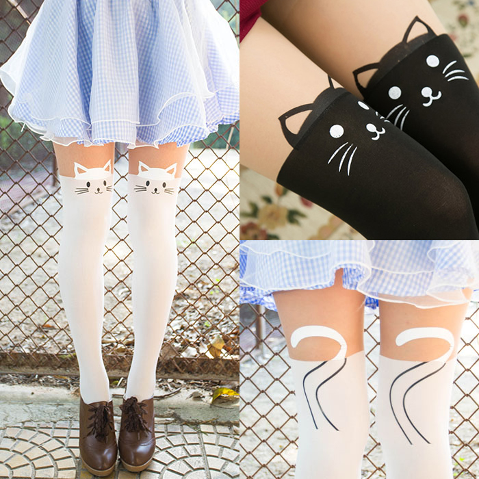 4f6ea4f52 Kawaii cat thigh high tights/pantyhose · Cute Kawaii {harajuku ...