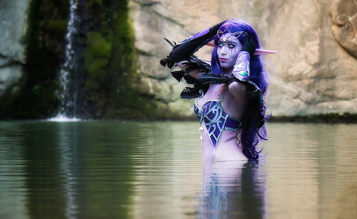 Print Night Elf World Of Warcraft Lady Devilrose Cosplay
