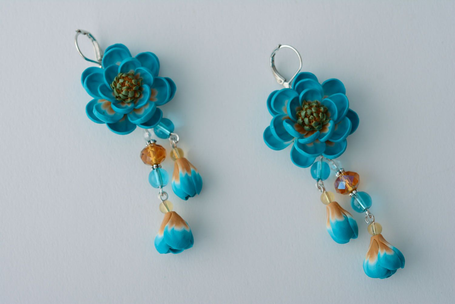 d6c1e176d Earrings with polymer clay charms on Storenvy