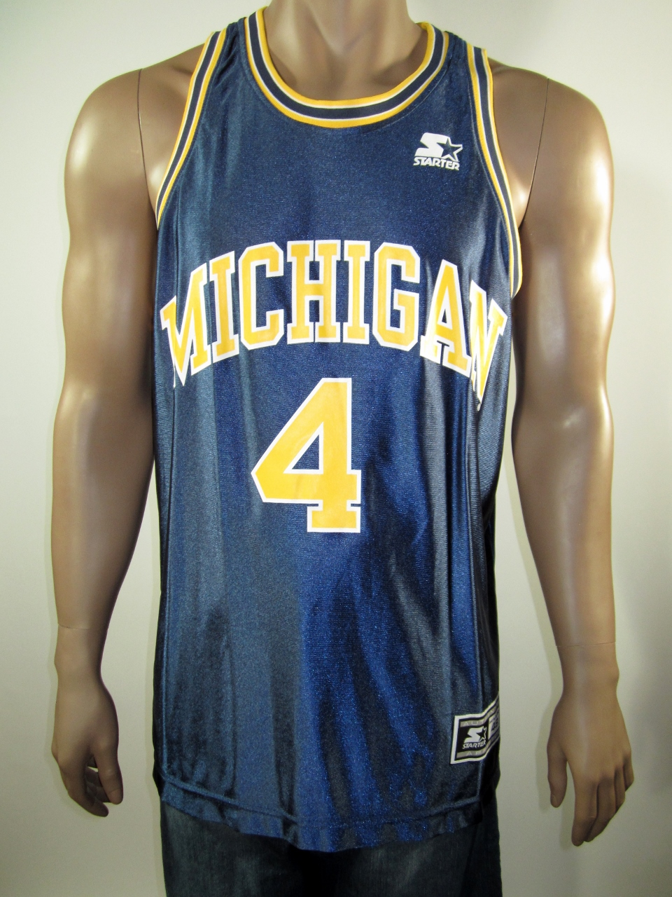 big sale fd2f1 750e9 Chris Webber Michigan Wolverines NCAA Starter Jersey 48 NWT from DFRNSH8