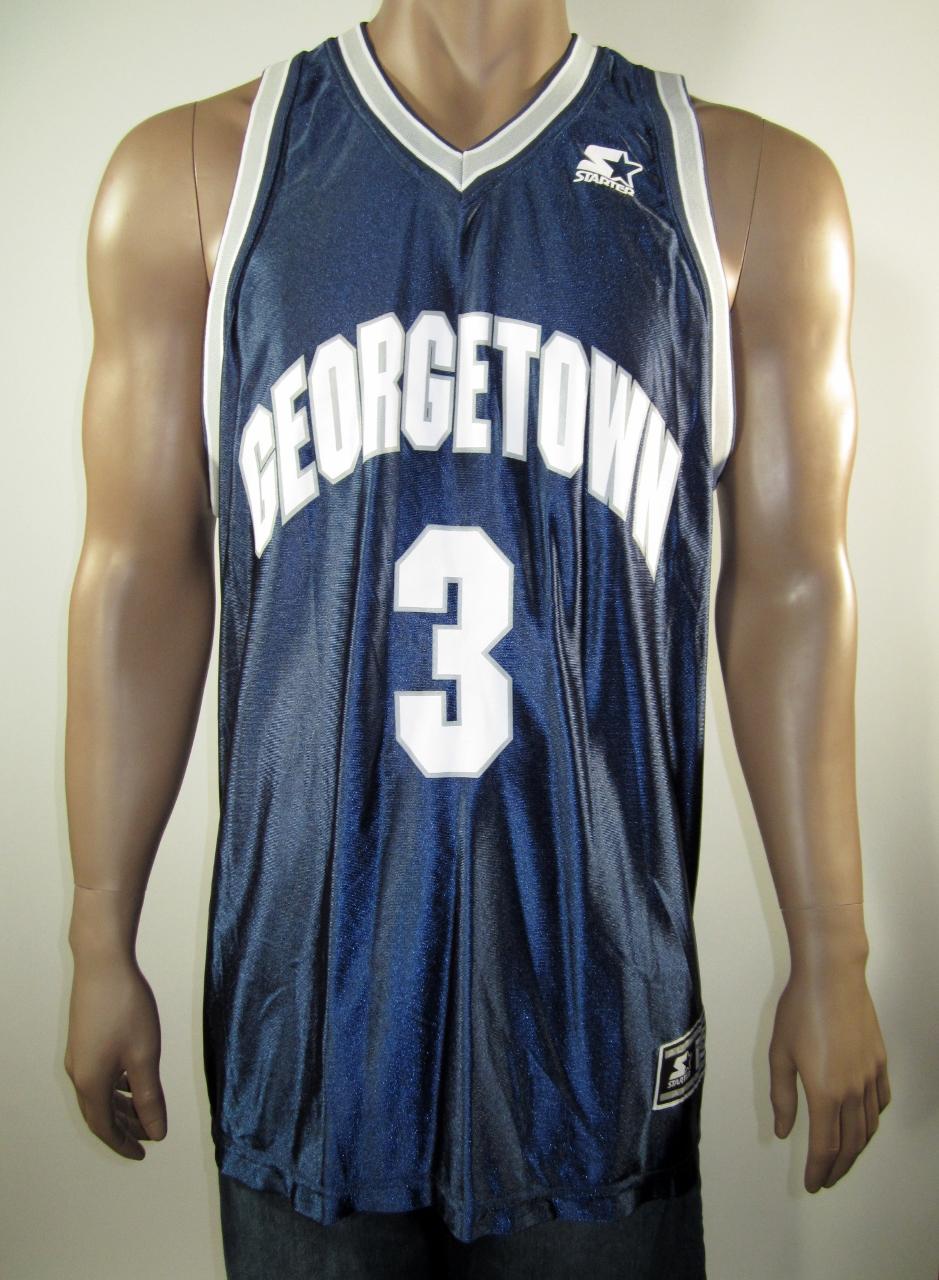 2d3721076ae Allen Iverson Georgetown Hoyas NCAA Starter Jersey 52 NWT · DFRNSH8 ...