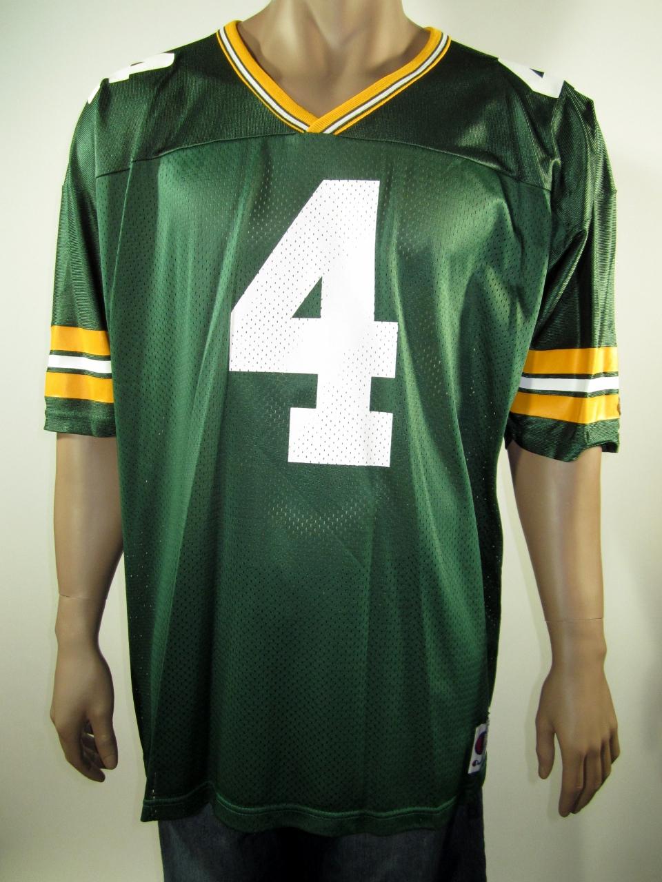1c1552250e3 Brett Favre Green Bay Packers NFL Champion Jersey 52 NWT · DFRNSH8 ...