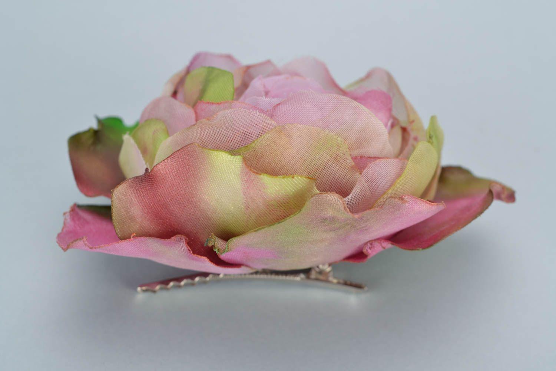 Pink handmade batik organza and silk fabric flower on storenvy 1 06 06 small mightylinksfo