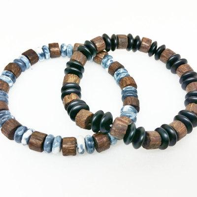 1c15ecc1e5 Unisex Mens Wood Bracelet Onyx Healing Energy Yoga Stretch Mala Bracelet ·  The Kaleidoshop · Online Store Powered by Storenvy