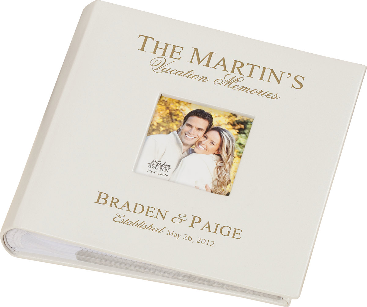 Personalized Laser Engraved Leather Bound Photo Album The