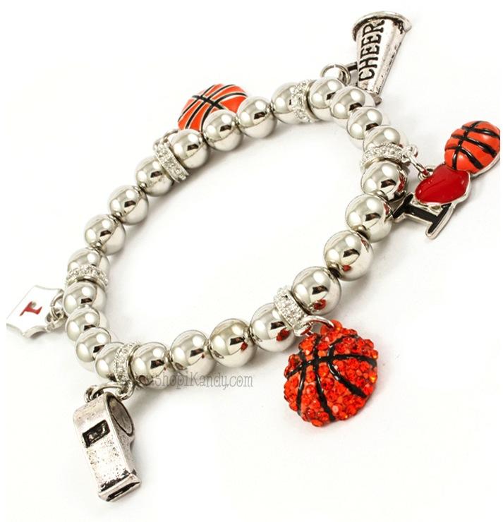 Basketball Charm Bracelet: I Love Basketball Sports Charm Bracelet On Storenvy