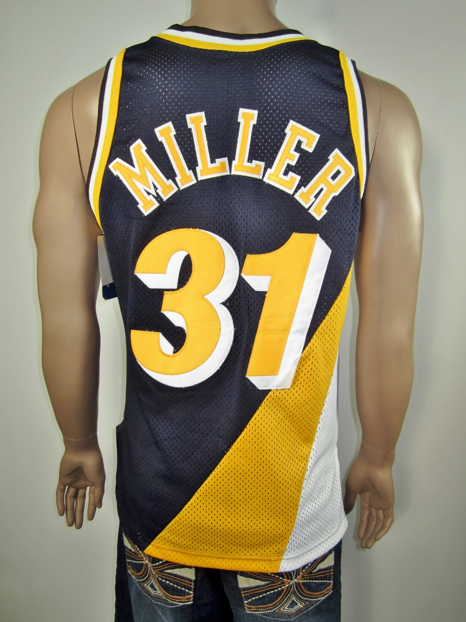 Reggie Miller Indiana Pacers Authentic Champion Jersey 40 NWT - Thumbnail 1  ... e06c39968