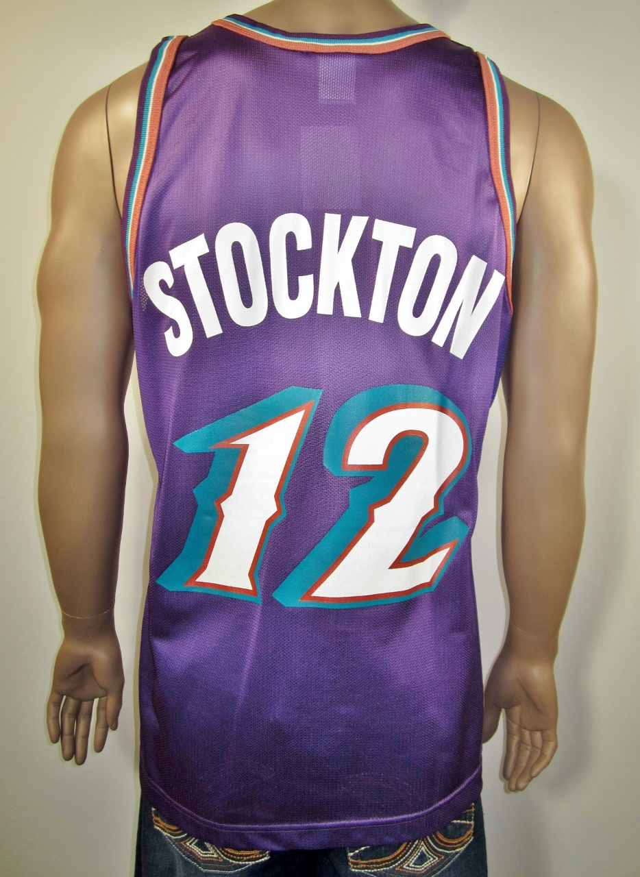 sports shoes 3606f add32 John Stockton Utah Jazz Champion Jersey 44 NWT from DFRNSH8