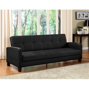 Peachy Black Faux Leather Sofa Bed Sleeper Great For Apartments Sold By Flair For Your Lair Pabps2019 Chair Design Images Pabps2019Com