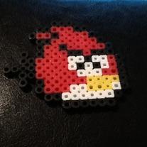 perler, hama, red bird, angry bird, bead magnet, rovio