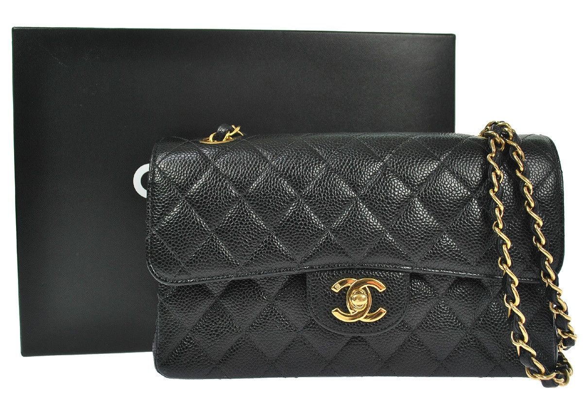 7db6eb65a718 Authentic Chanel Caviar 2.55 Double Flap bag with GHW comes box · Truc De  Chic Boutique