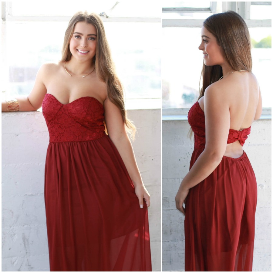 8740c6a32fa Talk of the Town  Lace Bodice Maxi Dress on Storenvy