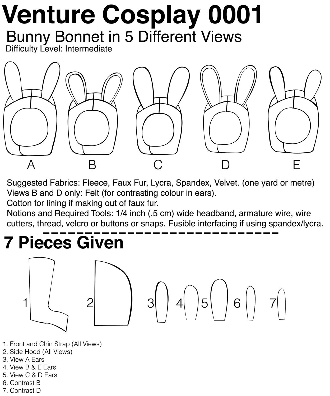 Ultimate Bunny Hat Sewing Pattern Tutorial for making a Rabbit Bonnet like  Fionna's 5 Versions from adorpheus
