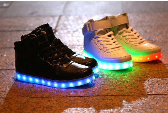 New Style Led Light Up Shoes Flashing Sneakers 183 Cute