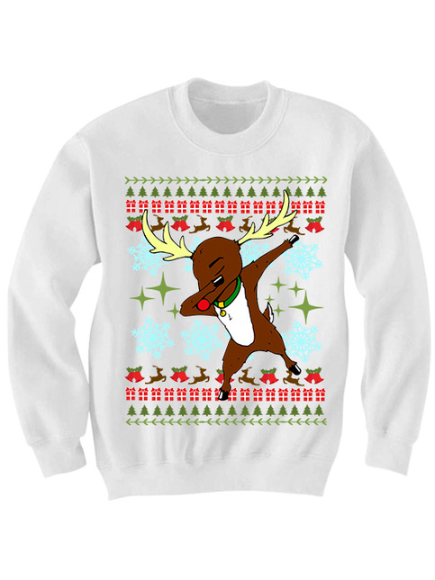 Ugly Christmas Sweater Dabbin Rudolph Sweater Funny