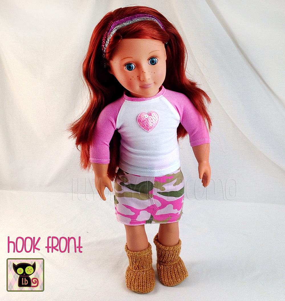 8b4d4227a Pink Camo Jean Skirt for 18