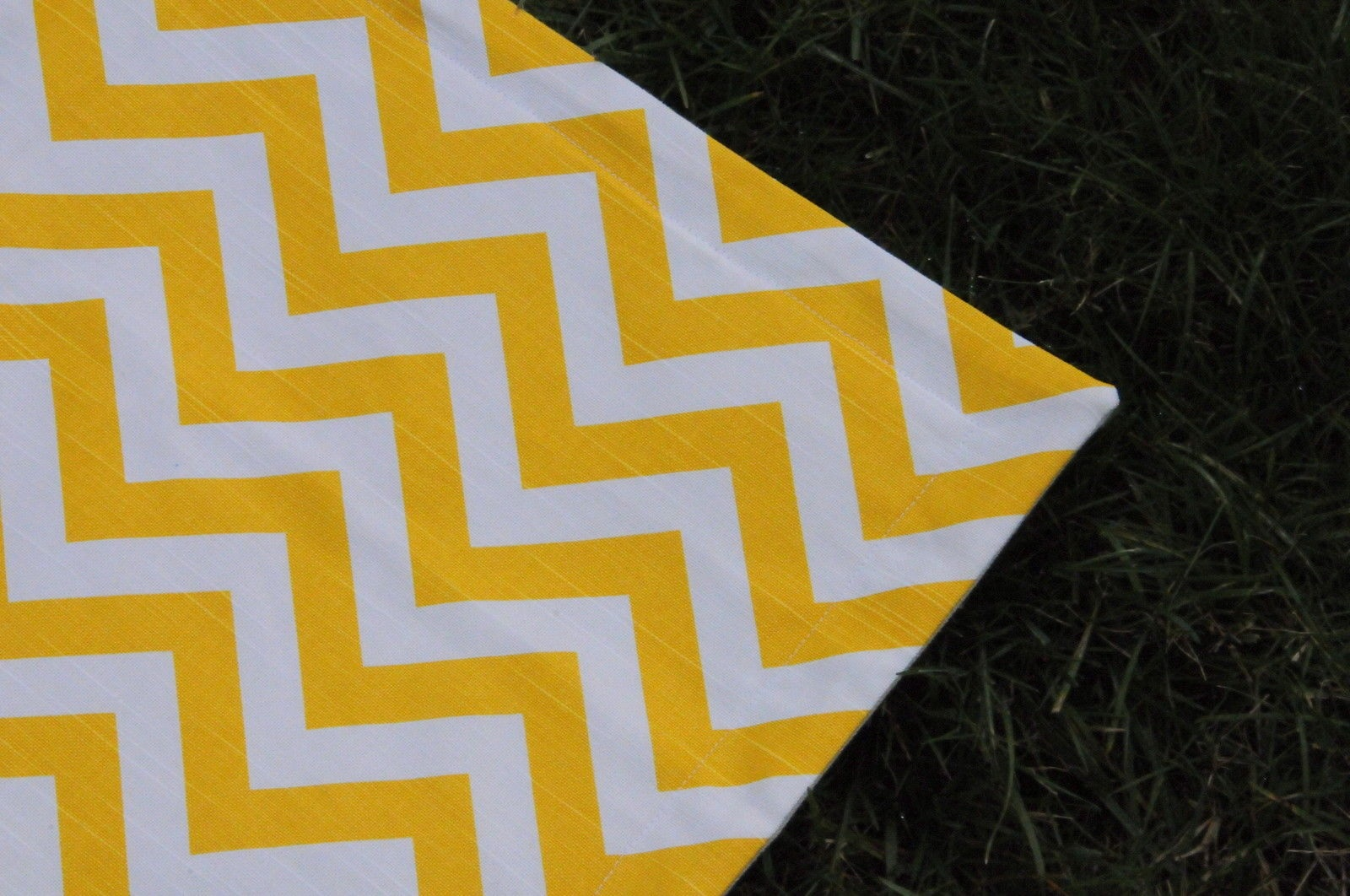 Canvas Area Rug Playmat Mess Mat 2 2 X 3 Chevron Zigzag Yellow And White Sold By Lolasita S On Storenvy