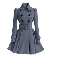 b63d7c9c9bfc Women s Chic Belt Long Sleeve Winter Coat Dress · Kashion · Online ...
