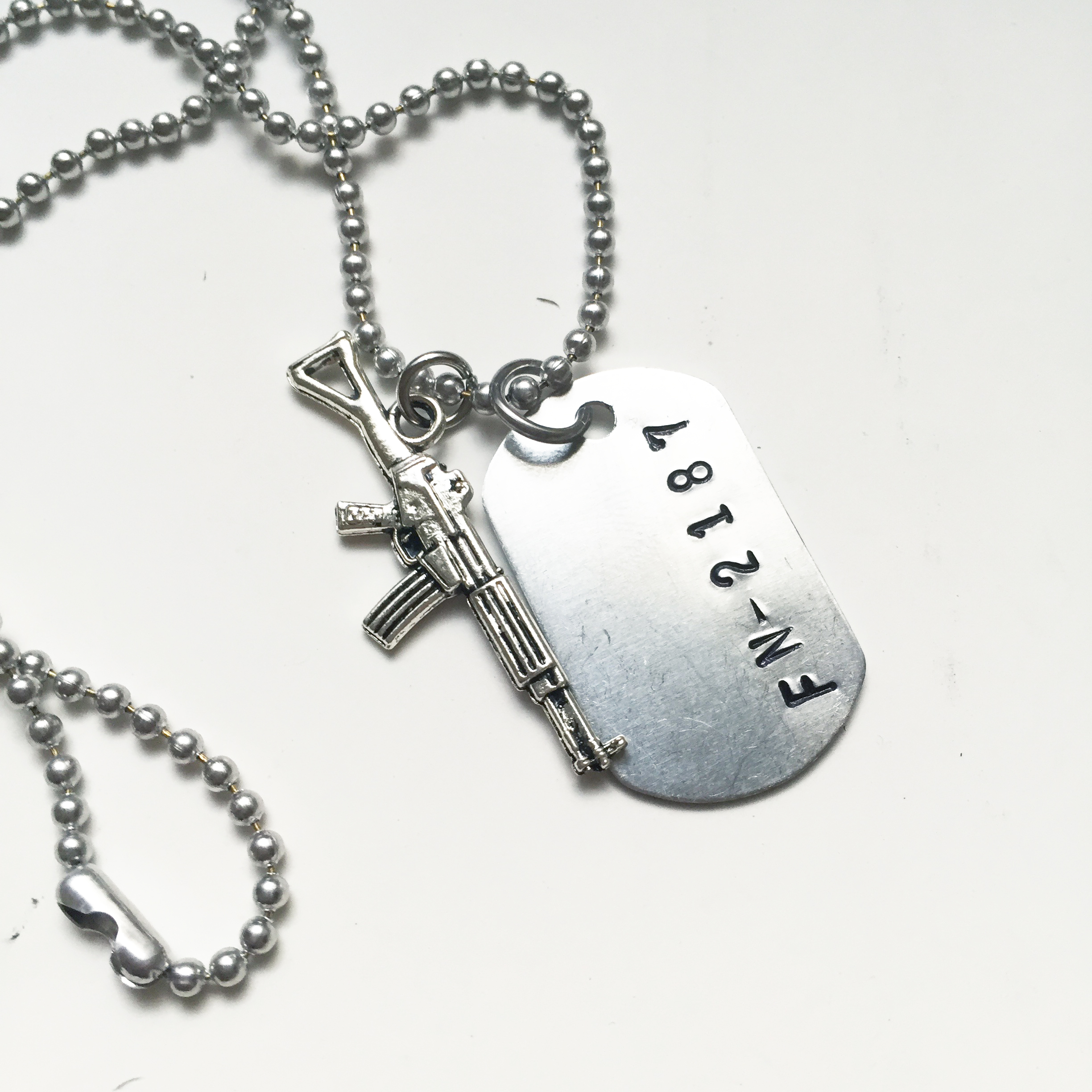 inch silver pendant number faith custom newnumber chain in with all of copy necklace products