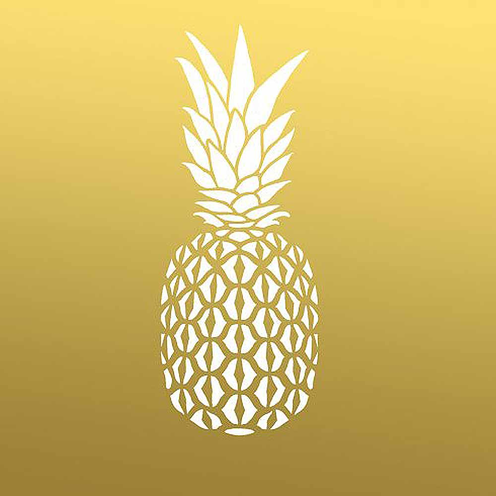 Pineapple Wall Art Stencil - SMALL - Reusable Trendy Stencils for ...