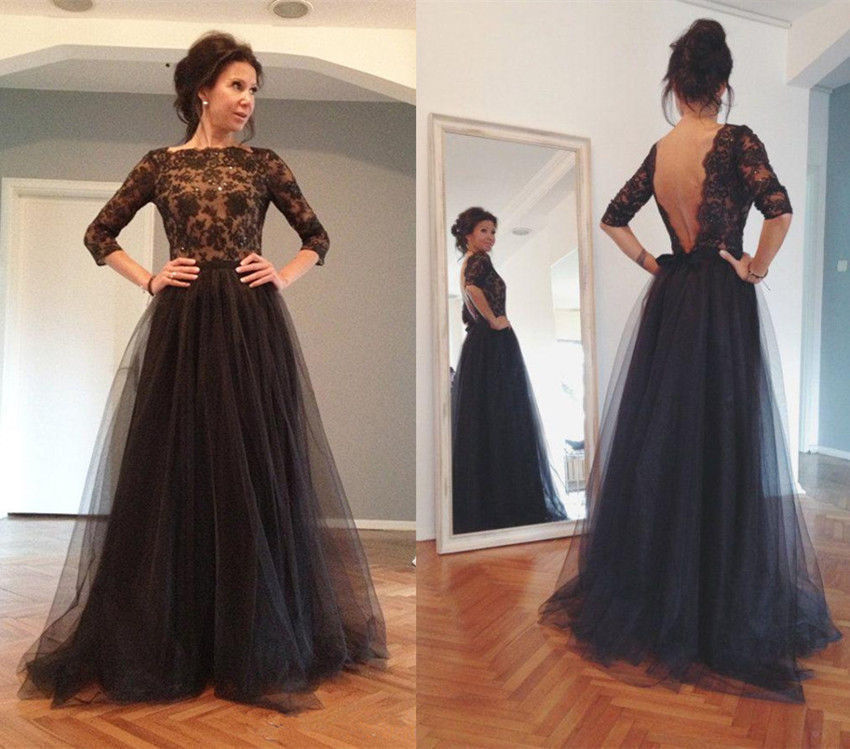Long Prom Dresslace Prom Dressblack Prom Dressparty Prom Dresses