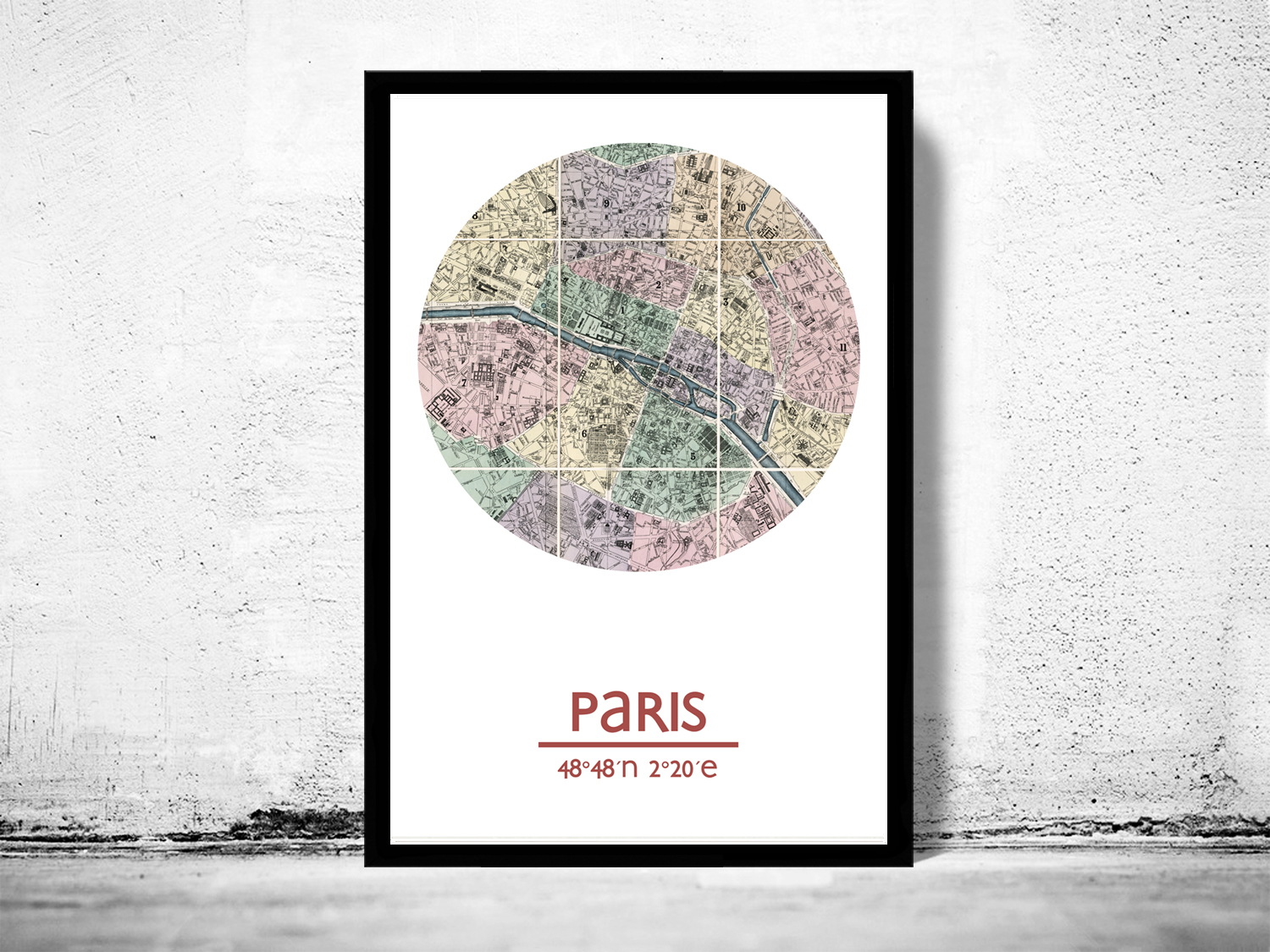 PARIS  city poster  city map poster print on Storenvy