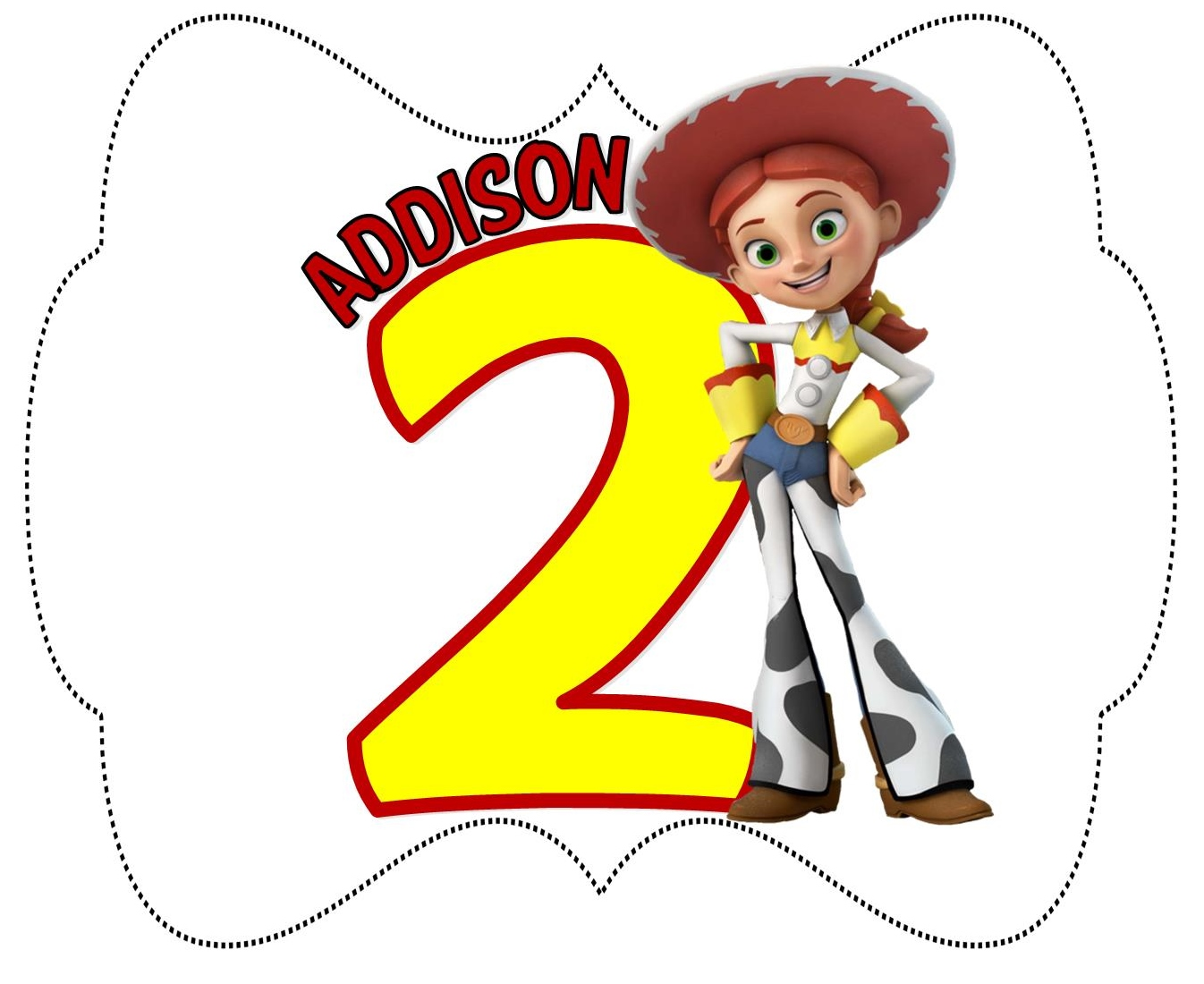 Jessie Toy Story Birthday Monogram