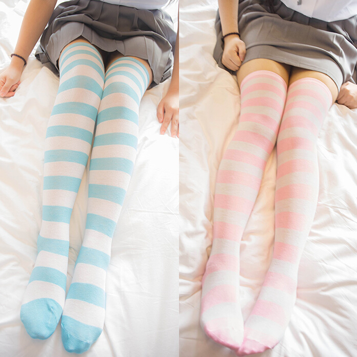 f735267ce6548 Japanese cute striped silk stockings · Women Fashion · Online Store ...