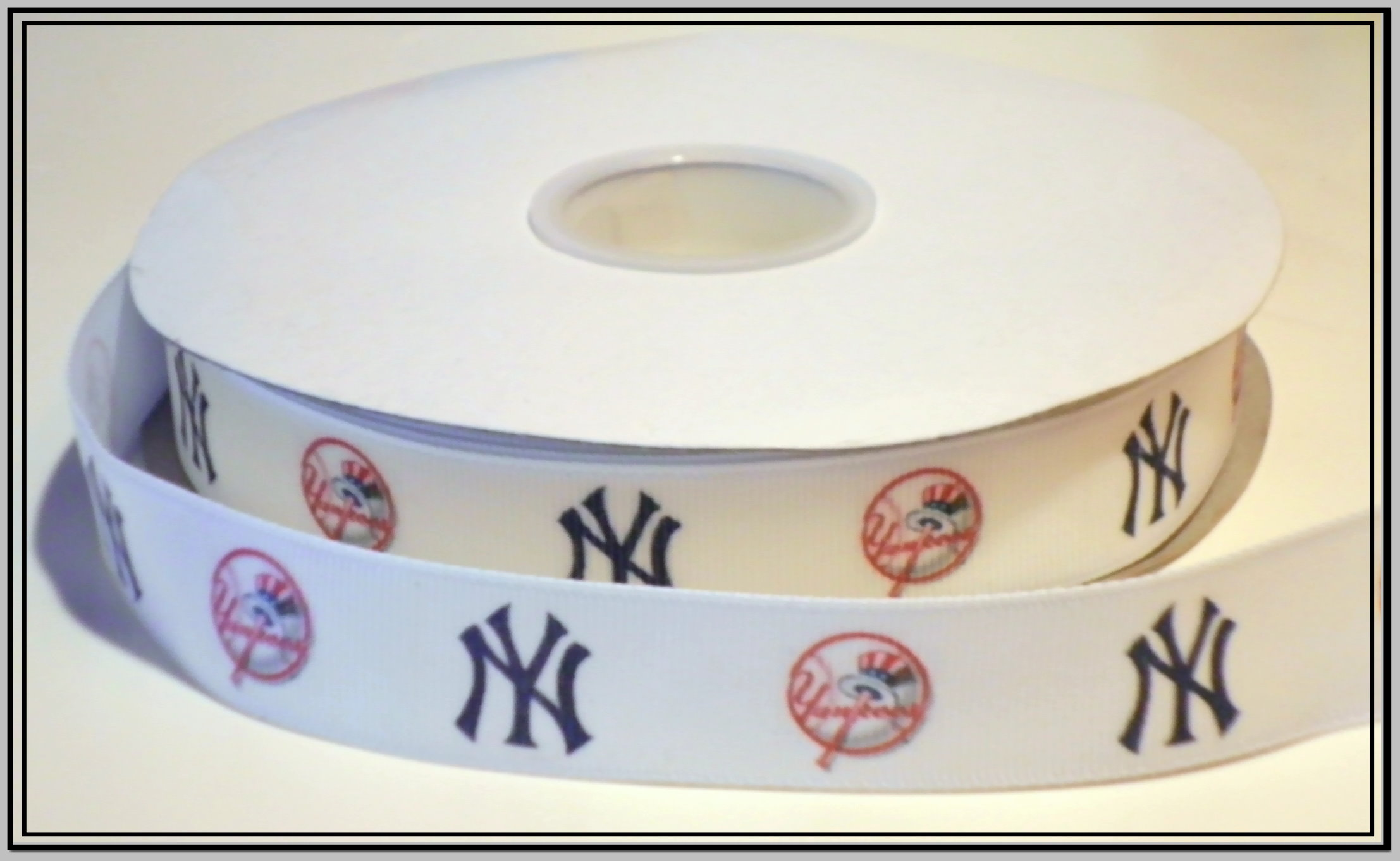 5 Yard of New York Yankees Grosgrain Ribbon-7//8 inch