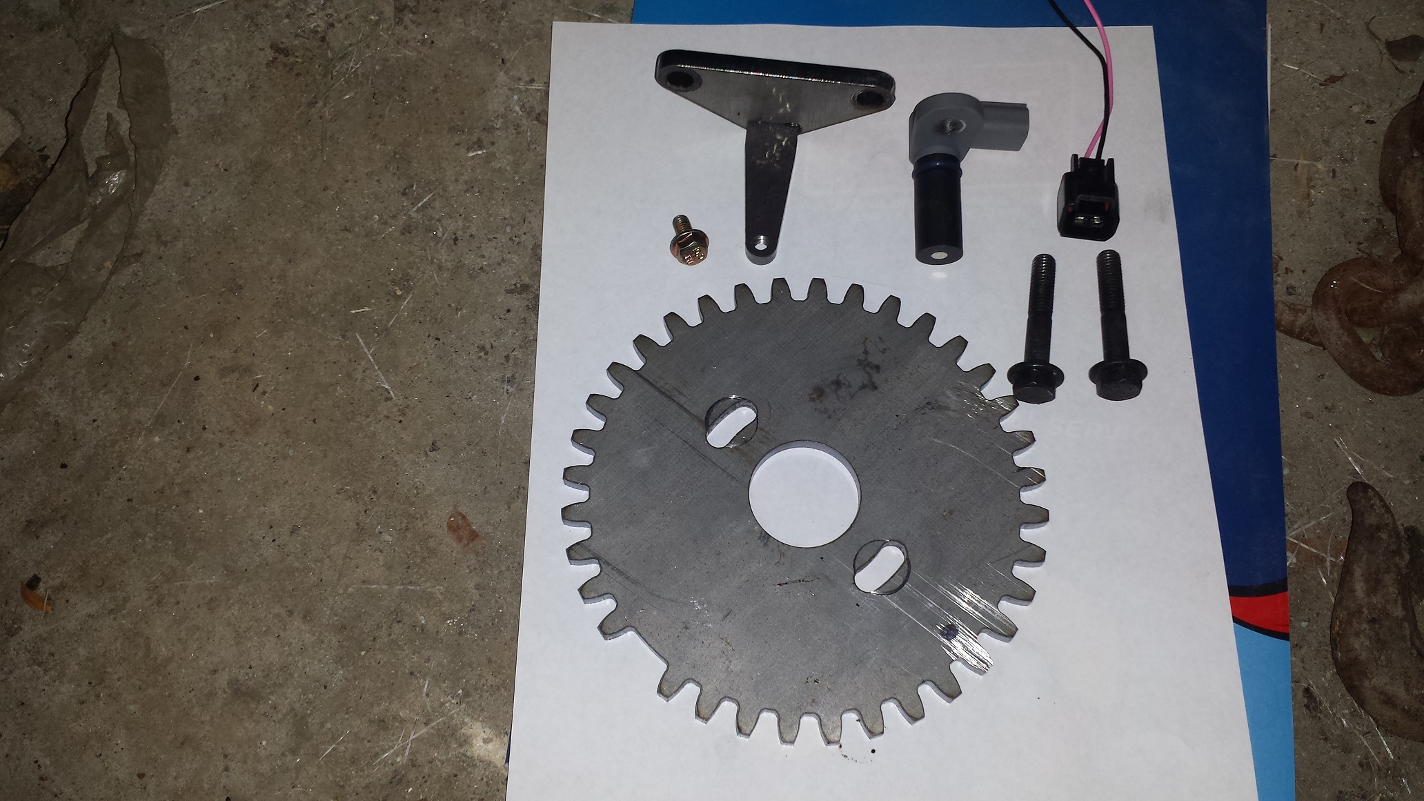 2TC 3TC 2TG EFI 36-1 Trigger Wheel Kit with VR Sensor and Pigtail from  Foxau2 Reproductions
