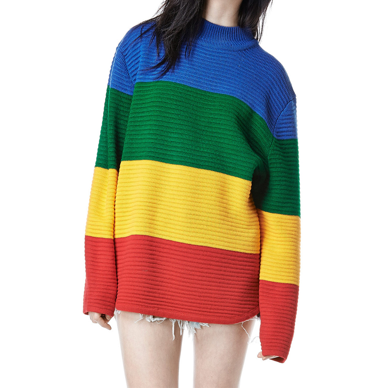 Unif Rainbow Knitted Pullovers Oversized Sweater on Storenvy 3e8d965d0