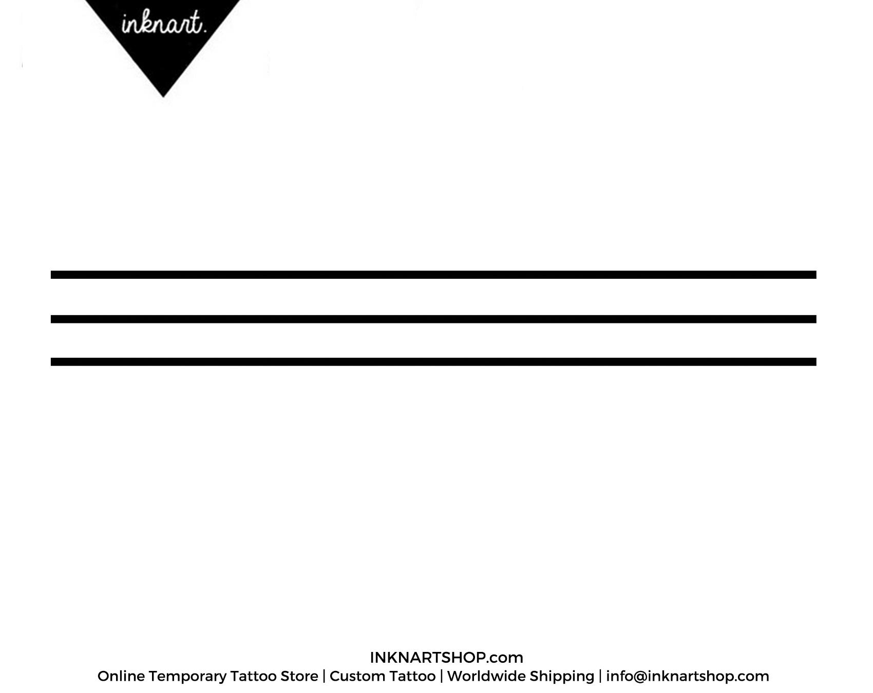 3pcs minimal line simple band arrow geometric tattoo inknart
