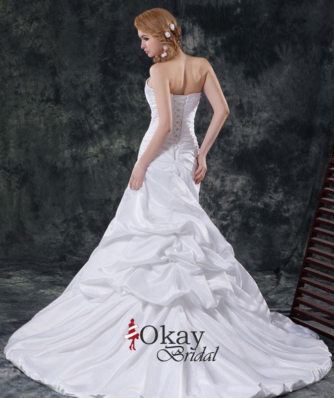 Satin Mermaid Wedding Gown: Satin Wedding Dress,Cheap Wedding Dress,Mermaid Wedding