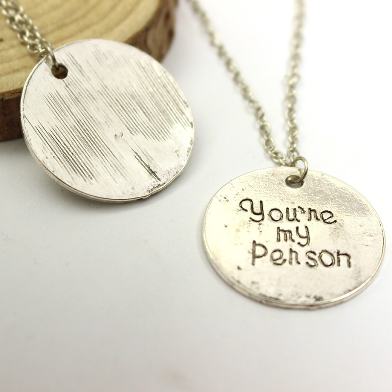 Grey Anatomy Necklace Hot Sales Letter You Are My Person You Will