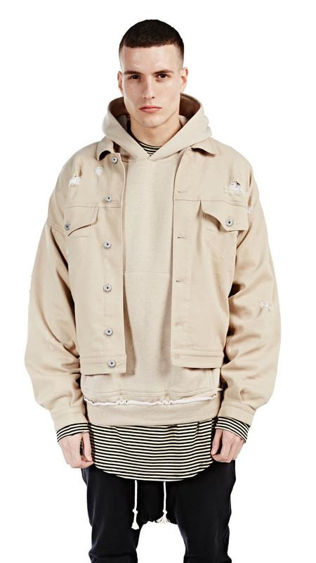 Reprnt British Style Beige Kanye West Hoodie Sweatshirt On Storenvy