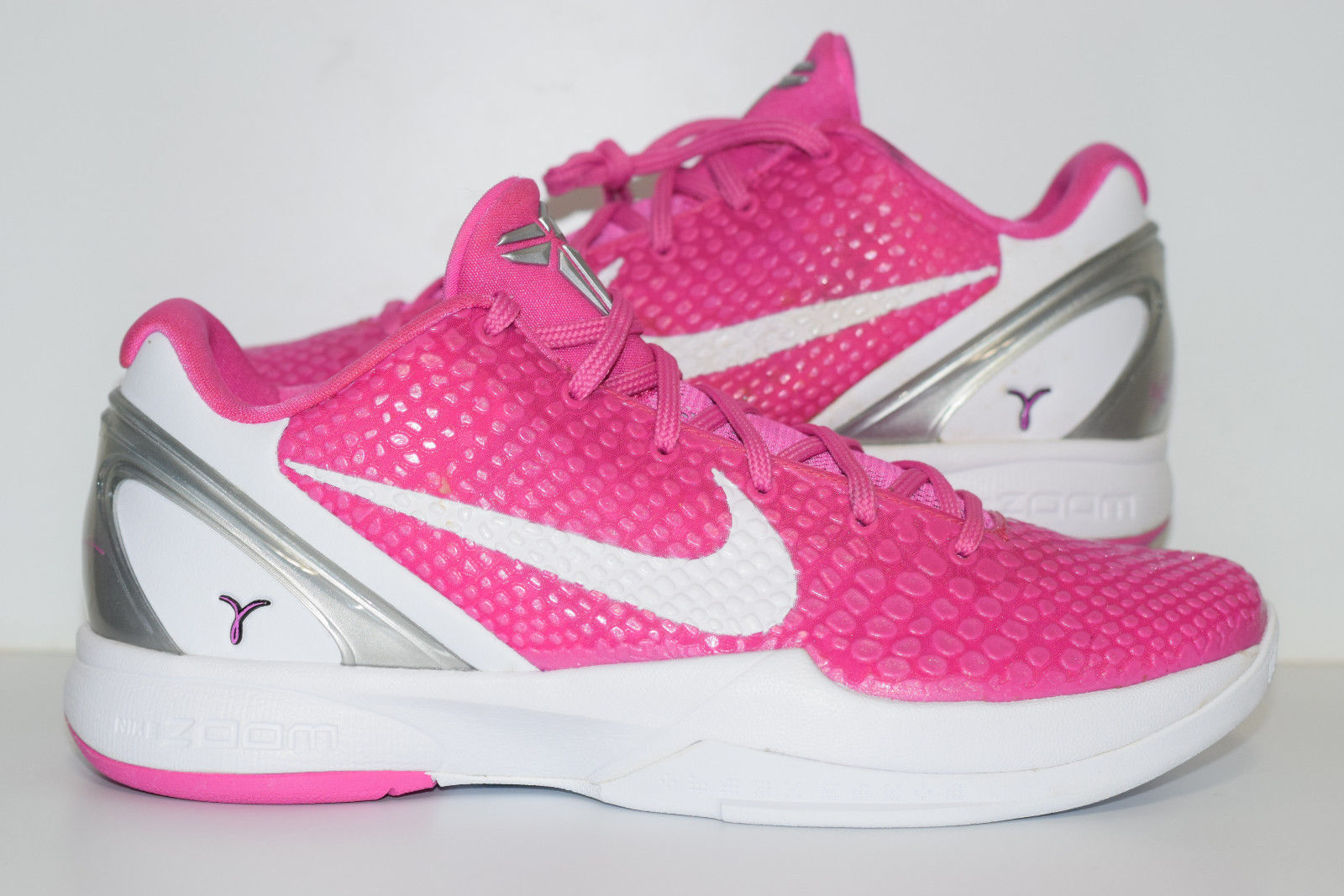 uk availability 5d87a 34b60 Size 10   NEW 2011 Nike Kobe 6 Think Pink Breast Cancer Kay Yow on ...