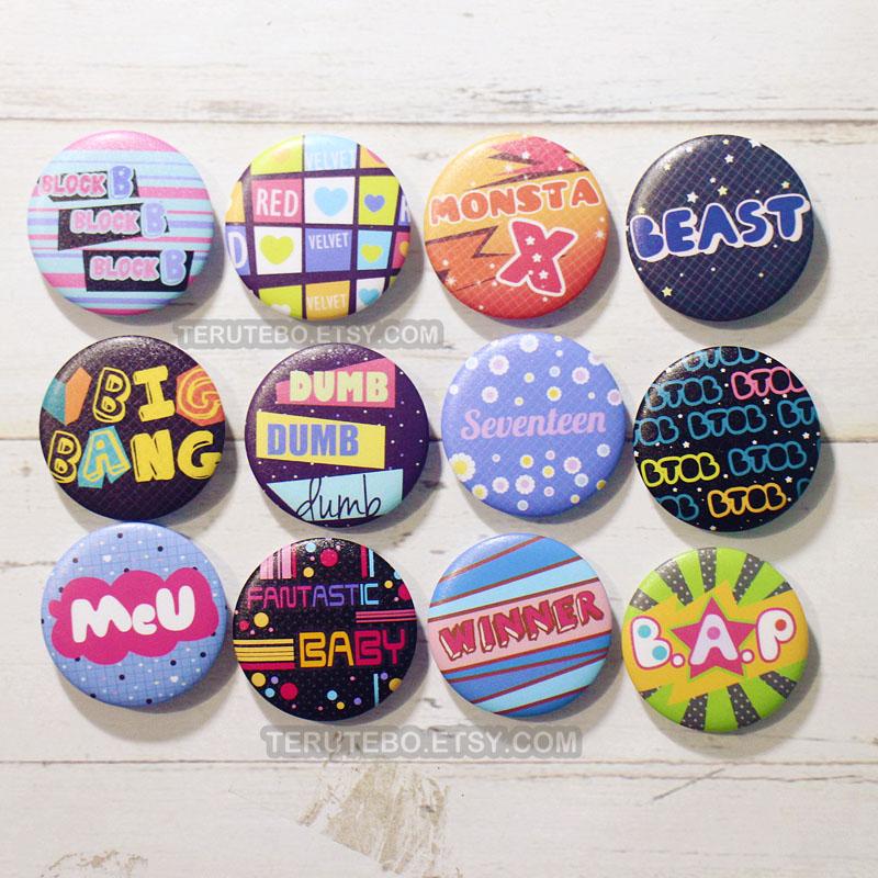 Blackpink KPOP Button Badges